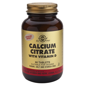 Calcium Citrate With Vitamin D3 - Solgar