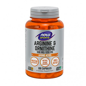 L-Arginine/Ornithine (500mg/250mg) - Now Foods