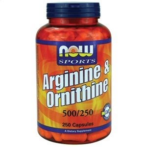 Arginine/Ornithine - L- Arginina/Ornitina 500/250MG - Now Foods