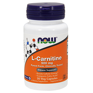 L-Carnitine Tartarate (L-Carnipure) 500mg - Now Foods