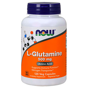 L-Glutamine 500mg - Now Foods