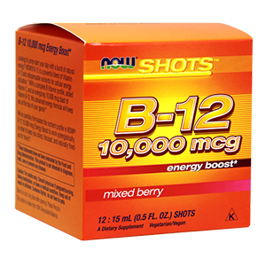Vitamina B-12 10.000mcg Shots - Now Foods
