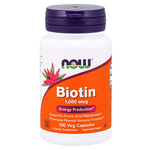 Biotin (Vitamina H) 1000 Mcg - Now Foods