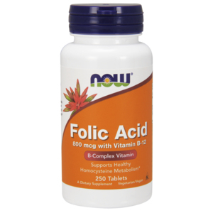 Folic Acid - Ácido Fólico 800mcg - Now Foods