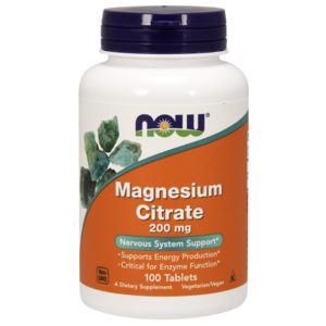 Magnesium Citrate 200 Mg - Now Foods