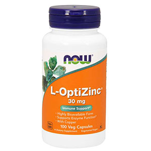 L-Optizinc W/Copper - (Zinco+Cobre) - Now Foods
