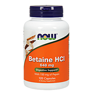 Betain Hci 648 Mg - Now Foods