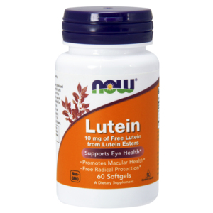 Lutein 10mg - 60 Softgels - Now Foods