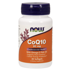 Co-Enzyme Q10 Com Ómega 3 - 60mg - Now Foods