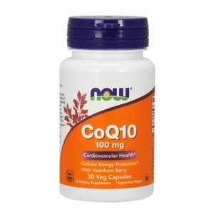 Co-enzyme Q10 100mg  (com bagas de espinheiro-alvar) - Now Foods