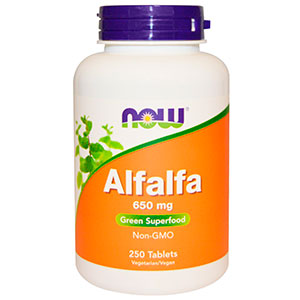 Alfafa Herb Organic 500mg - Now Foods