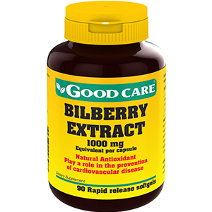 Billberry Extract 1000 Mg - Good Care