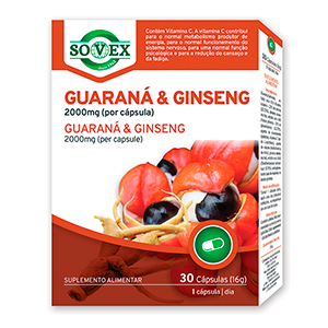 Guaraná E Ginseng 2000mg - Sovex